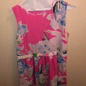 CeCe | Pink floral dress